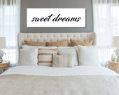 sweet dreams sign bedroom wall decor master bedroom decor wood framed sign bedroom wall art master bedroom sign canvas framed