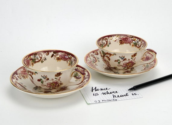 Set of 2 Mandalay Fine China Mugs The Leonardo Collection
