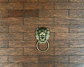 1//12th Scale Dolls House Animal Print Cushion Golden Lion
