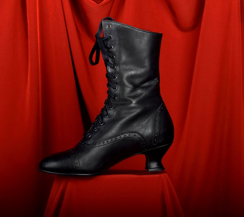 Victorian Boots & Shoes – Granny Boots & Shoes Victorian Style Lace up Ladies Boots Darcy $208.71 AT vintagedancer.com