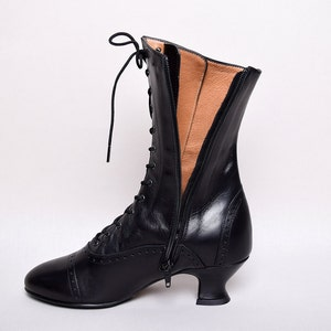 Victorian Boots & Shoes – Granny Boots & Shoes Victorian Side Zip Leather Boots (SP1910Z) Darcy $173.93 AT vintagedancer.com