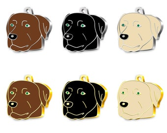Pet Tag Art Labrador Personalised Cat-Dog Tags Pet ID Engraved