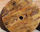Wooden Cable Drum Reel Yoyo Top Ideal to create Garden Table, Pub T, Coffee, Singer Table, Wallboard, Headboard,Clock, UP-CYCLED