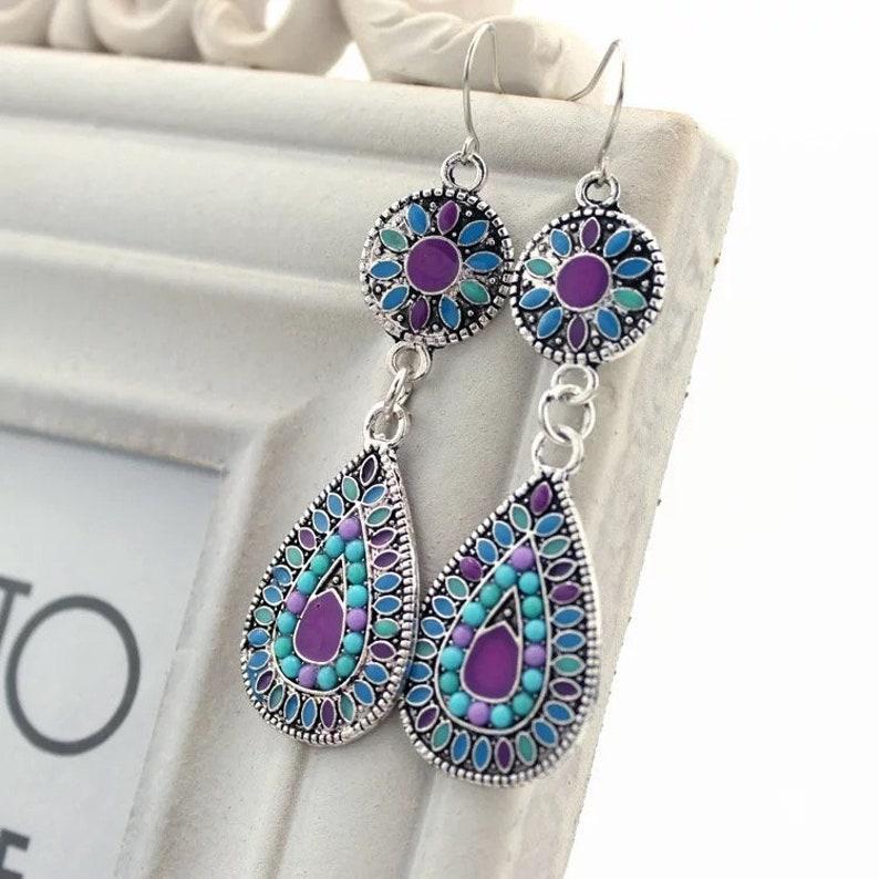 Beautiful Multi Colored Earrings