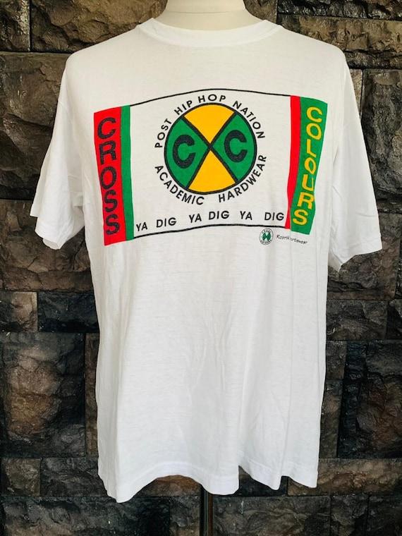Vintage Cross Colour Hip Hop  tshirt