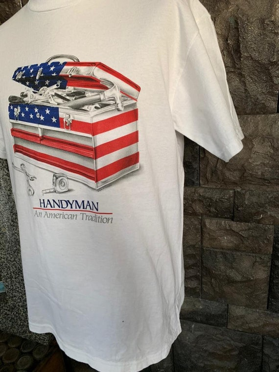 Vintage Handyman An American Tradition tshirt - image 4