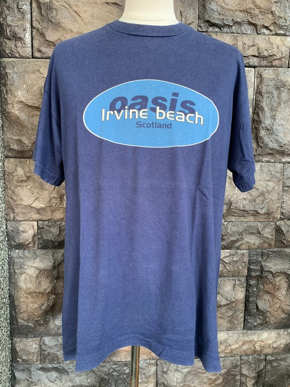 Vintage 90s OASIS band Irvine Beach Scotland Tshir