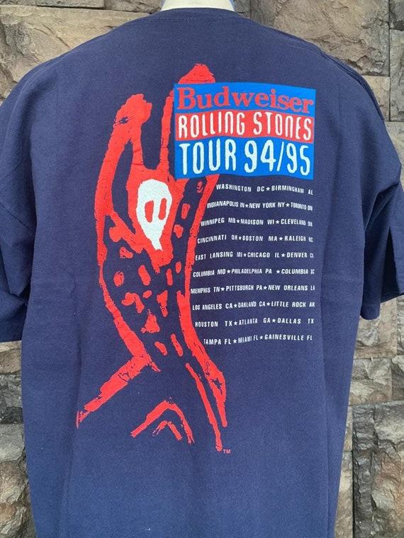 Vintage 90s Rolling Stones Voodoo Lounge Tour t s… - image 5