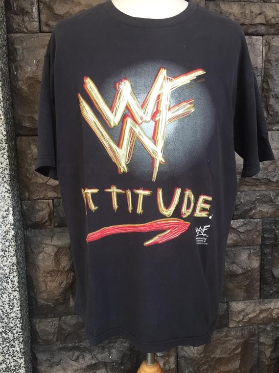 Vintage The Rock WWF Attitude wrestling  tshirt