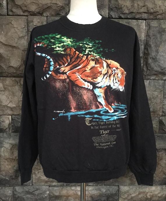 Vintage 90s  sweatshirt habitat tiger internationa