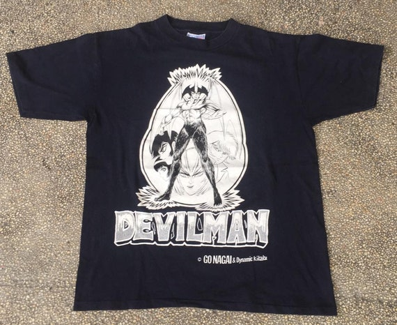 Vtg Devilman anime shirt manga/anime/comic/japan/a