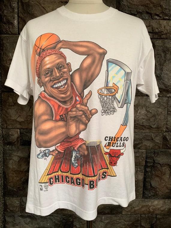 Vintage 90s Dennis Rodman Chicago Bulls tshirt M s