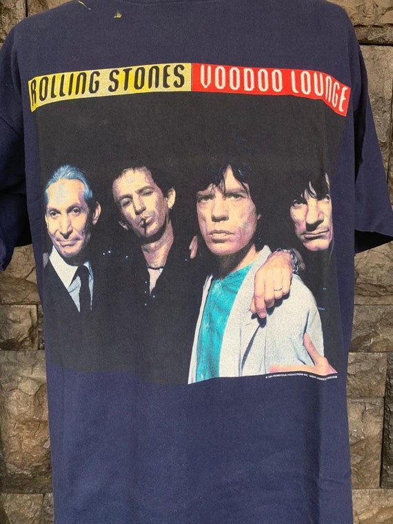 Vintage 90s Rolling Stones Voodoo Lounge Tour t s… - image 3