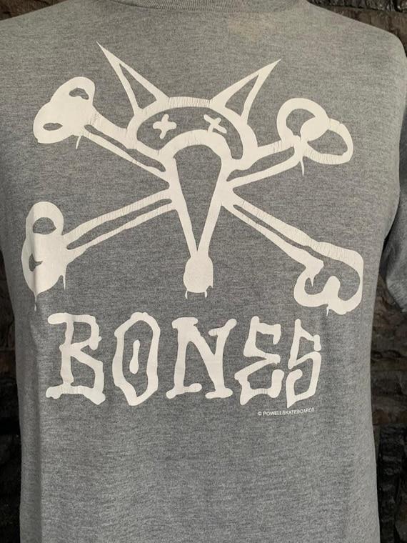 Vintage Bones powell Skateboard tshirt