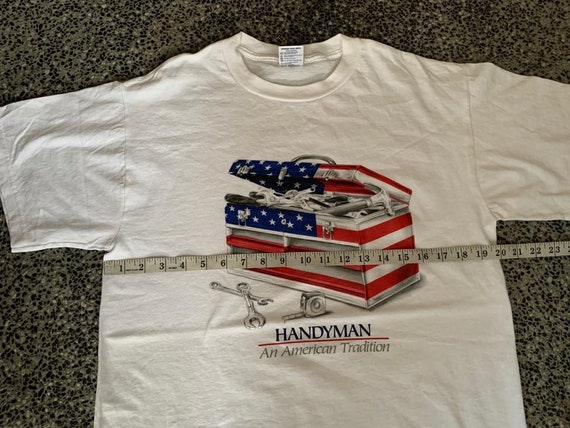 Vintage Handyman An American Tradition tshirt - image 6