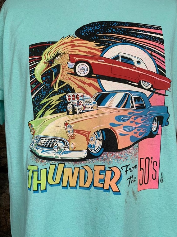 Vintage 90s thunder of the 50s tshirt - image 2