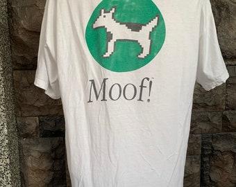 """Vintage  Apple """"Moof"""" Dogcow Tshirt / Apple Macintosh"""