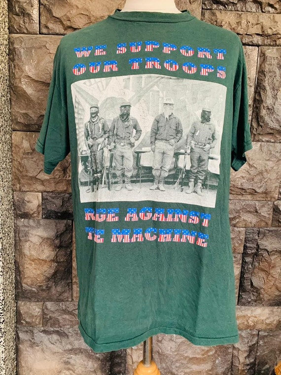 Vintage Rage Against the Machine tshirt we support