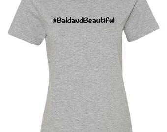 Bald and Beautiful Women's Grey T-shirt