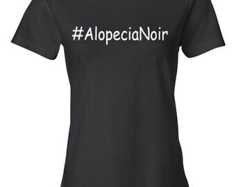 Alopecia Noir Women's Black T-shirt