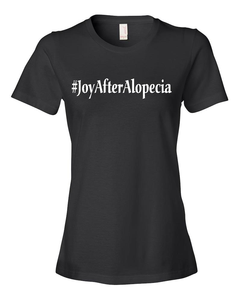 Joy After Alopecia Women's Black T-shirt Black