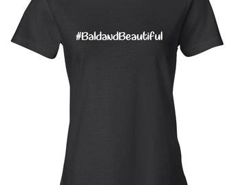 Bald and Beautiful Women's Black T-shirt