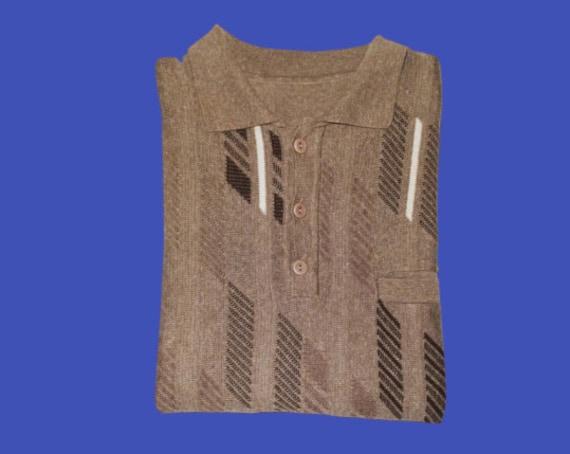 Brown Knit Polo M