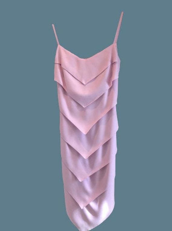 Pink Cutted Tank Dress M