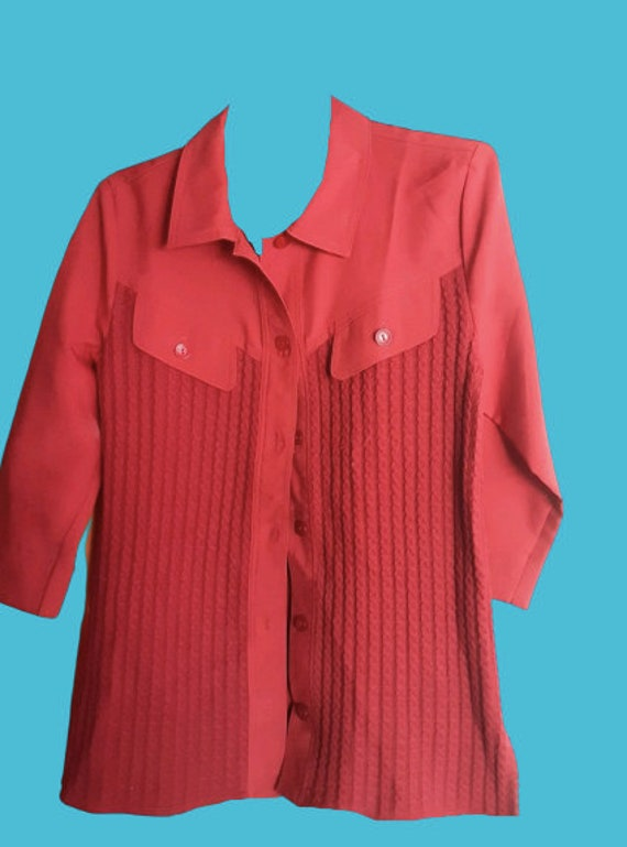 Red Blouse L