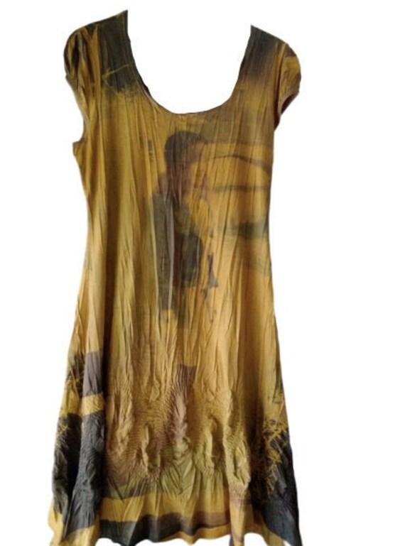 Woman Painting Tank Dress L
