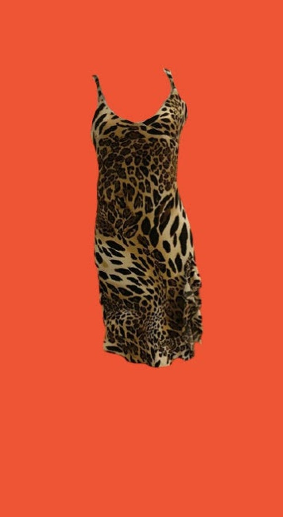 Psychedelic Leopard Print Tank Dress M