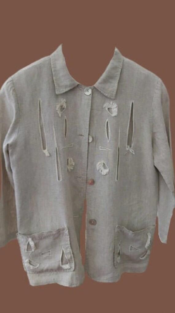Beige Linen OverShirt or Jacket
