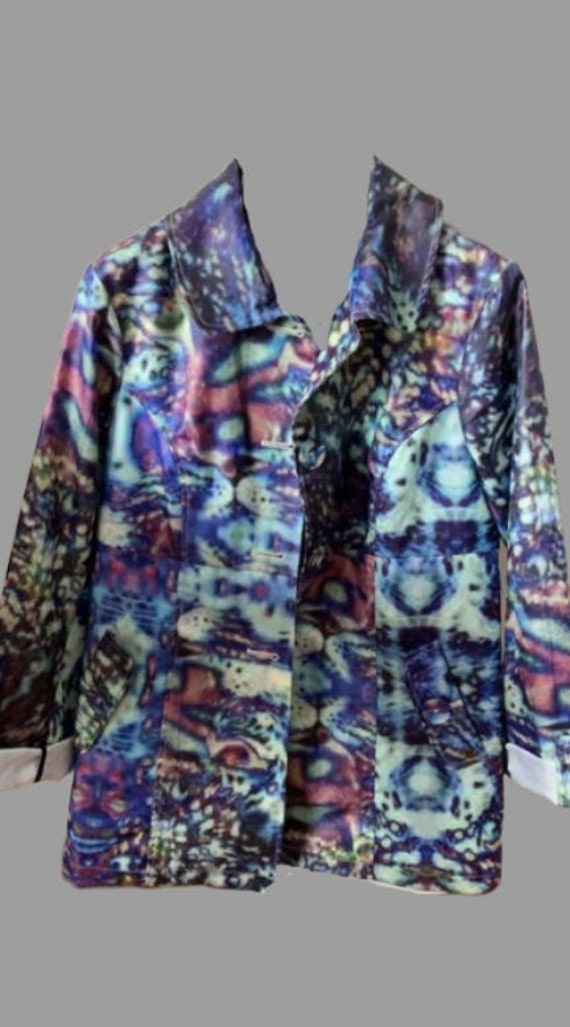Psychedelic Liquid Blue Coat S