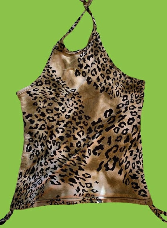 Psychedelic Leopard Print Tank Top M