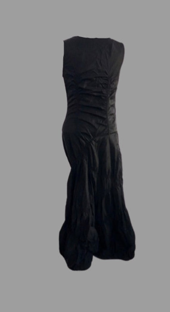 Black Frills and Pocket Tank Dress S