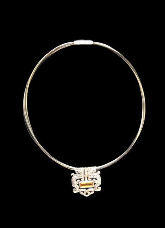 Chinese Dragon Silver Necklace