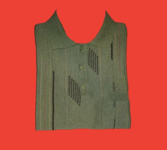 Green Knit Polo M