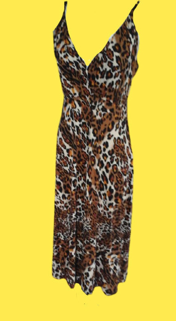 Leopard Print Tank Dress M