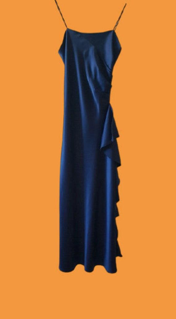 Blue Long Tank Dress S