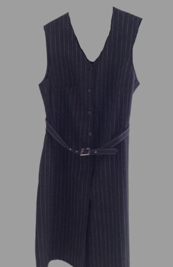 Blue and White Lines Tank Dress XXXXL