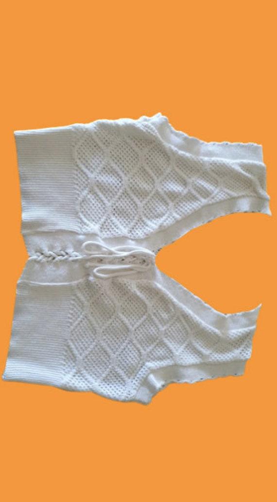 White Knit Tank Top S
