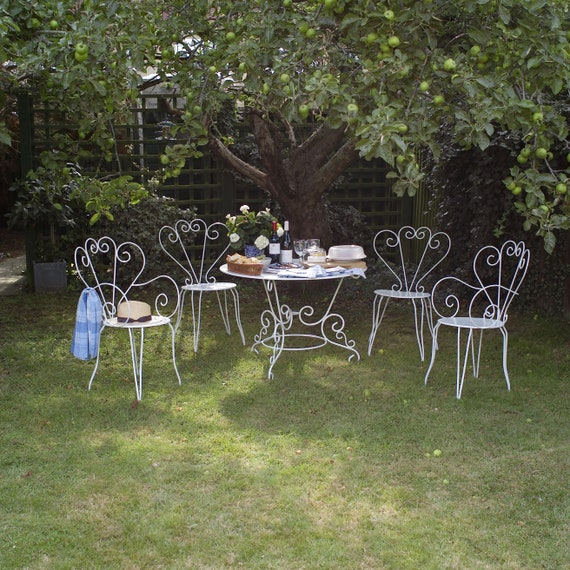 French vintage garden table and chairs