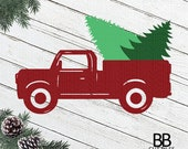 ChristmasTruck Svg,Truck With Tree Svg Png,Jpg,Dxf,IChristmas Tree Svg Instant Download Old Truck Svg,Silhouette Cut File Cricut Cut File