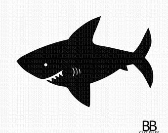 Shark Svg,Shark Silhouette svg, shark cut files Instant Download