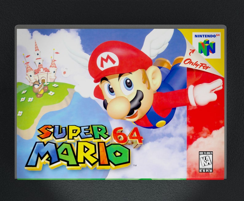 Custom Case Super Mario 64 Game is not Included N64 Replacement Repo Cases