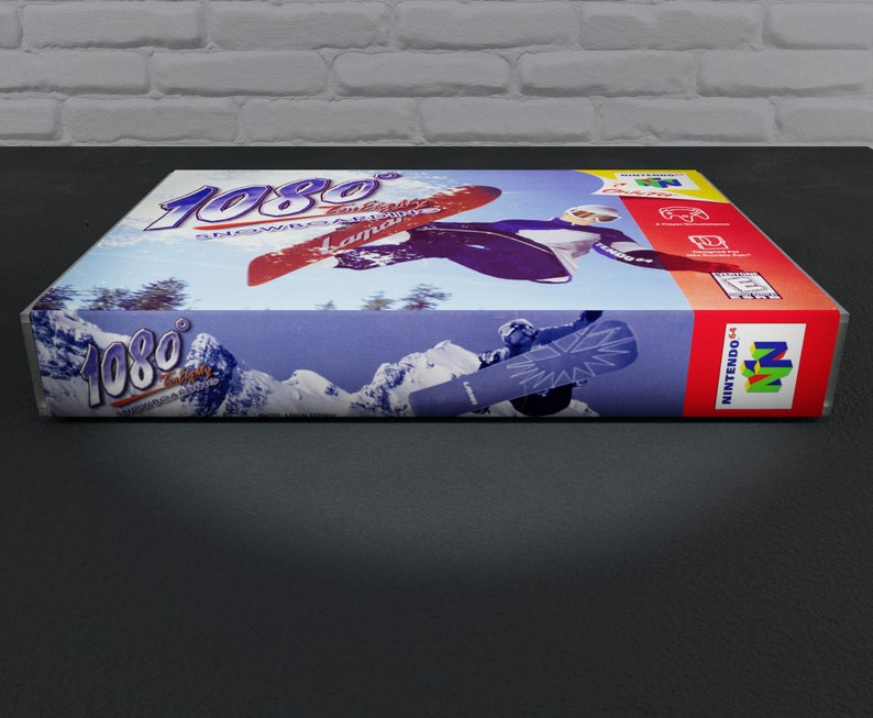 1080 Snowbording Custom Case N64 Game is not Included Replacement Repo Cases