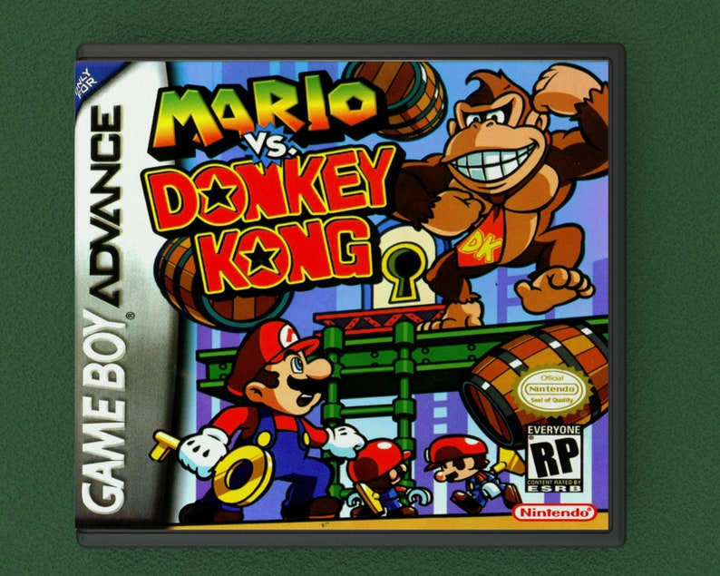 Custom Case Mario vs Donkey Kong Replacement Repo Cases Game is not Included Gameboy Advance