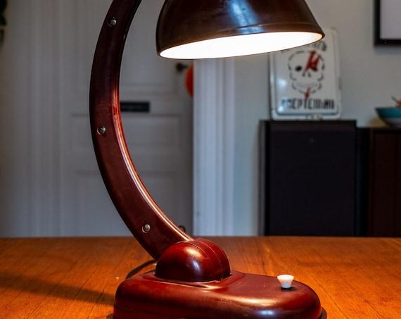 Bakelite desk lamp, Christian Dell for Soviet Russia (KGB)