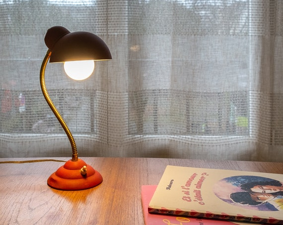 Lamp to lay red 1950/60