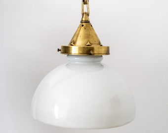 Art Deco Opaline Suspension